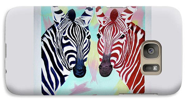 Galaxy Case featuring the painting Twin Zs by Phyllis Kaltenbach