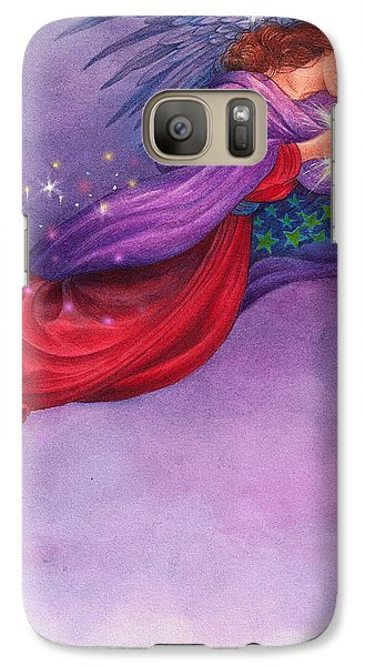 Galaxy Case featuring the painting Twinkling Angel by Judith Cheng