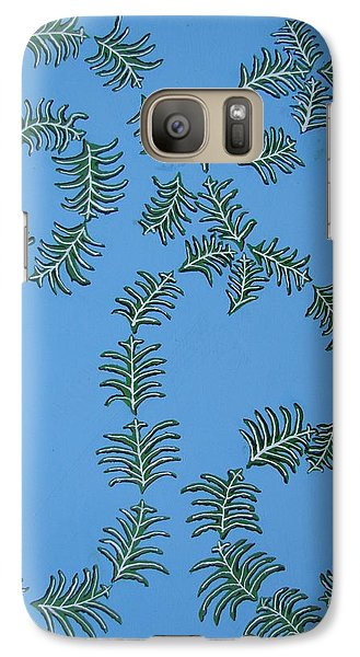 Galaxy Case featuring the painting Twirling Leafs by Brady Harness
