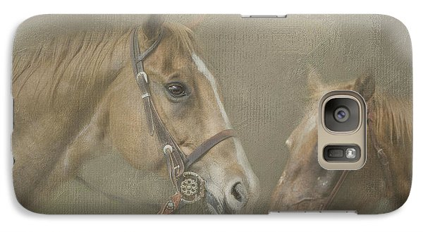Galaxy Case featuring the digital art Two Amigos by Linda Blair