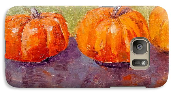 Galaxy Case featuring the painting Two And A Half Pumpkins by MaryAnne Ardito