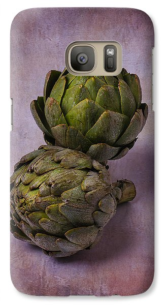 Artichoke Galaxy S7 Case - Two Artichokes by Garry Gay