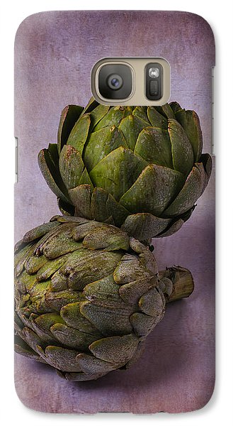 Two Artichokes Galaxy S7 Case by Garry Gay
