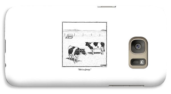 Two Spotted Cows Looking At A Jersey Cow Galaxy S7 Case