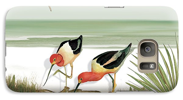 Galaxy Case featuring the painting Two Avocets by Anne Beverley-Stamps