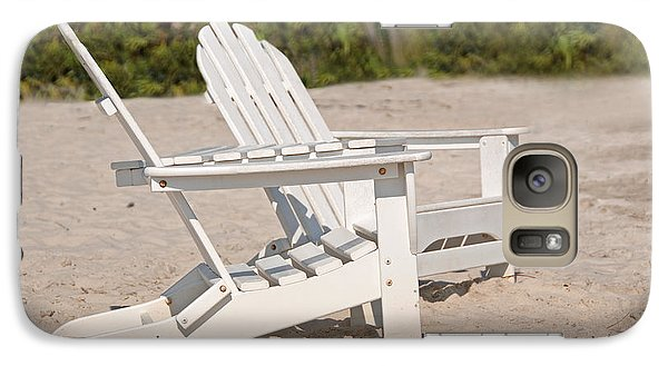 Galaxy Case featuring the photograph Two Beach Chairs by Charles Beeler