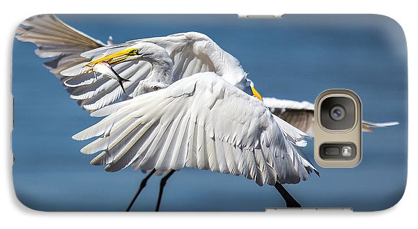 Galaxy Case featuring the photograph Two Birds And One Fish by Susi Stroud