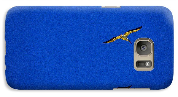 Galaxy Case featuring the photograph Two Blue by Tom DiFrancesca