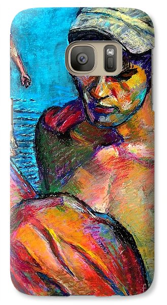 Galaxy Case featuring the drawing Two Boys by Stan Esson