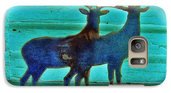 Galaxy Case featuring the pyrography Two Bucks by Larry Campbell