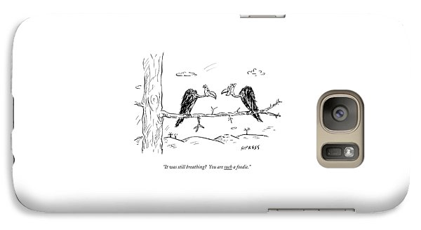 Two Buzzards Sit And Talk On A Branch Galaxy S7 Case by David Sipress