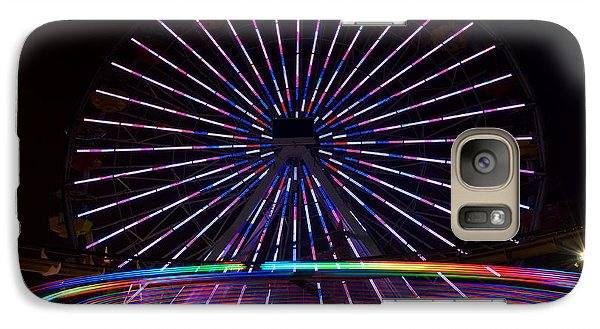 Galaxy Case featuring the digital art Two Carousels  by Gandz Photography