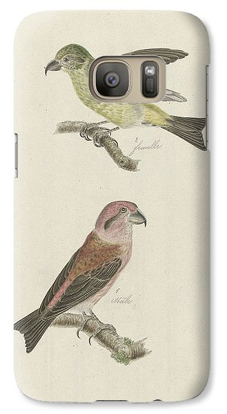 Two Crossbills, Possibly Christiaan Sepp Galaxy S7 Case by Quint Lox