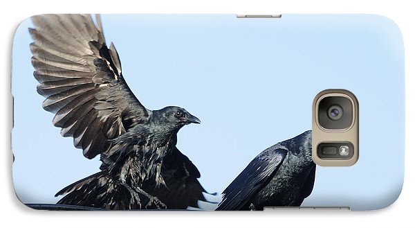 Two Crows On A Wire Galaxy S7 Case