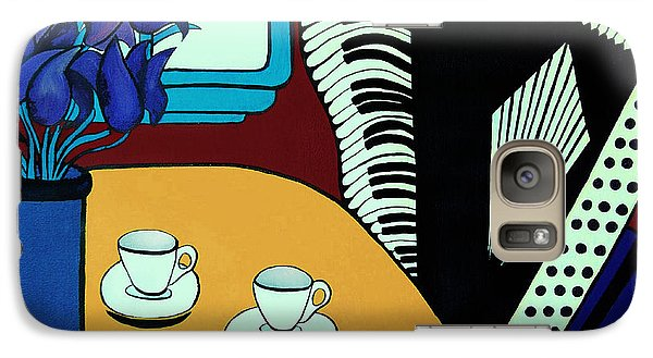 Galaxy Case featuring the painting Two Cups One Accordian by Barbara McMahon