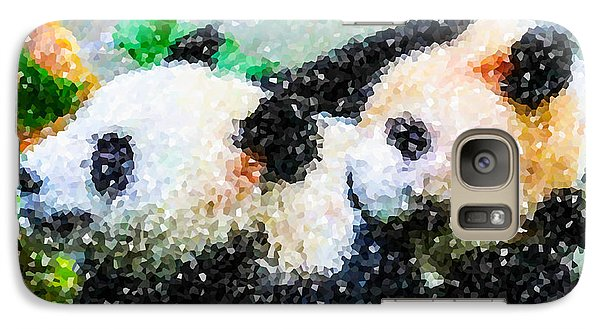 Galaxy Case featuring the digital art Two Cute Panda by Lanjee Chee