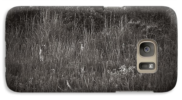 Galaxy Case featuring the photograph Two Deer Hiding by Bradley R Youngberg