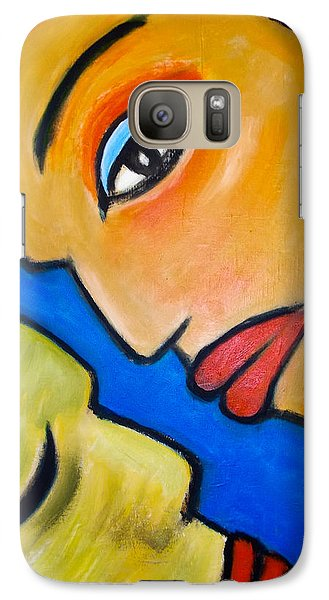 Galaxy Case featuring the painting Two Faces by Zeke Nord