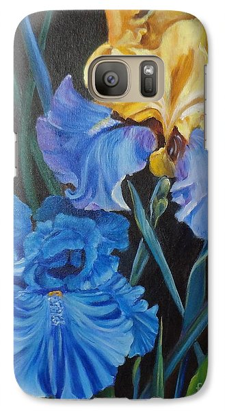 Galaxy Case featuring the painting Two Fancy Iris by Jenny Lee