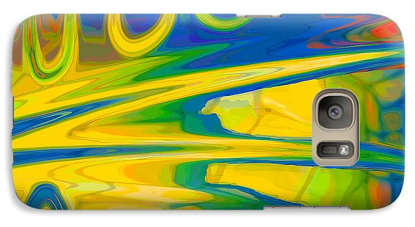 Galaxy Case featuring the digital art Two Fauvist Snakes by Constance Krejci