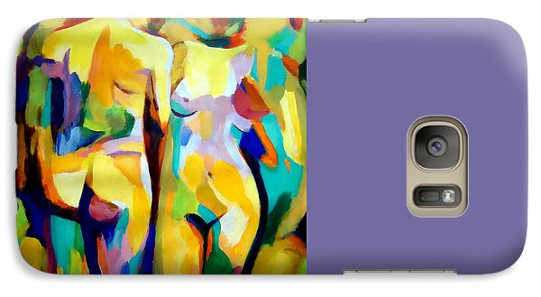 Galaxy Case featuring the painting Two Nudes by Helena Wierzbicki