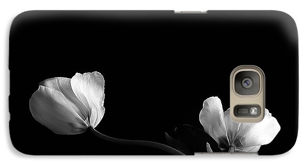 Galaxy Case featuring the photograph Two Flowers by Marwan Khoury