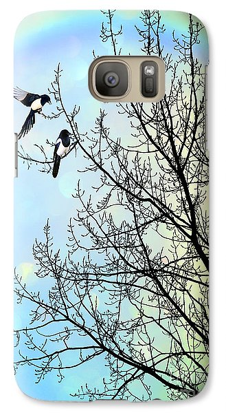 Magpies Galaxy S7 Case - Two For Joy by John Edwards