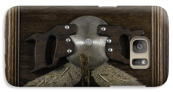 Galaxy Case featuring the painting Two Handled Saw Blade by Kurt Olson