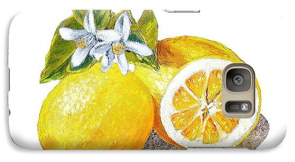 Lemon Galaxy S7 Case - Two Happy Lemons by Irina Sztukowski