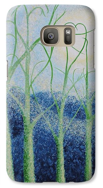Galaxy Case featuring the painting Two Hearts by Holly Carmichael