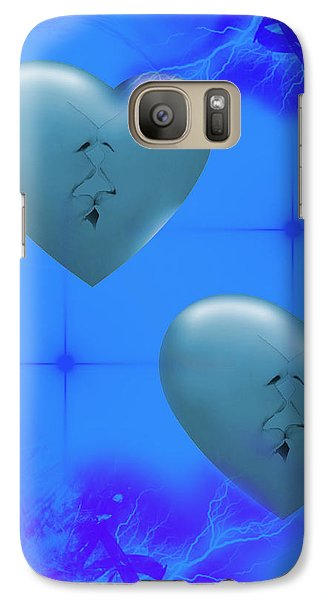 Galaxy Case featuring the digital art Two Hearts Together On Valentine's Day  by Angel Jesus De la Fuente