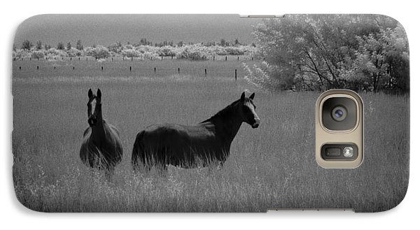 Galaxy Case featuring the photograph Two Horses by Bradley R Youngberg