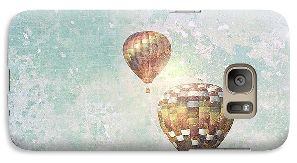 Galaxy Case featuring the photograph Two Hot Air Balloons by Brooke T Ryan