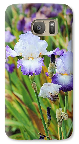 Galaxy Case featuring the photograph Two Iris by Patricia Babbitt