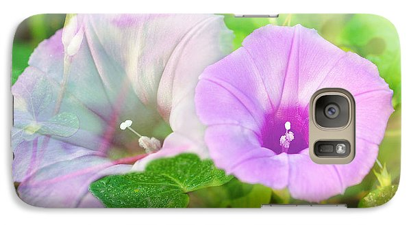 Galaxy Case featuring the photograph Two Morning Glories by Susan D Moody