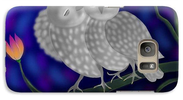 Galaxy Case featuring the digital art Two Owls by Latha Gokuldas Panicker