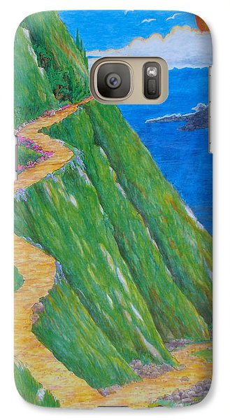 Galaxy Case featuring the painting Two Paths by Matt Konar