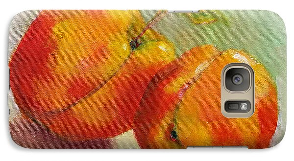 Galaxy Case featuring the painting Two Peaches by Michelle Abrams