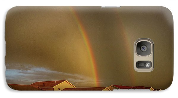Galaxy Case featuring the photograph Two Rainbows Plus Two Pots Of Gold by Jerome Lynch