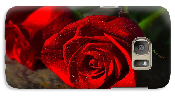 Galaxy Case featuring the photograph Two Roses by Richard Stephen