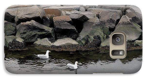 Galaxy Case featuring the photograph Two Seagulls by Dorin Adrian Berbier