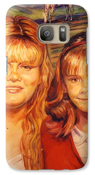 Galaxy Case featuring the painting Two Sisters by Stan Esson