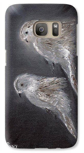 Galaxy Case featuring the painting Two Spirits In The Night by Barbie Batson