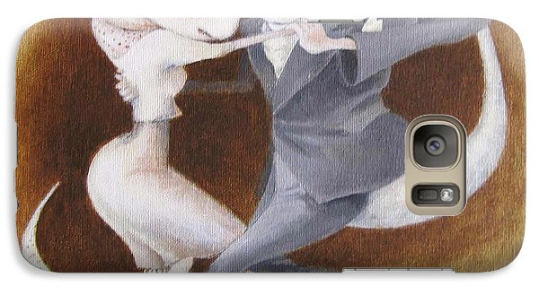 Galaxy Case featuring the painting Two To Tango by Marina Gnetetsky