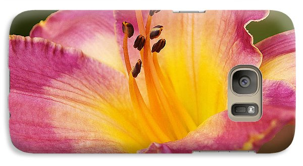 Galaxy Case featuring the photograph Two Tone Lily  by Kathi Mirto