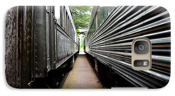Galaxy Case featuring the photograph Two Trains by Crystal Hoeveler