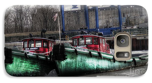Galaxy Case featuring the photograph Two Tugs by Jim Lepard