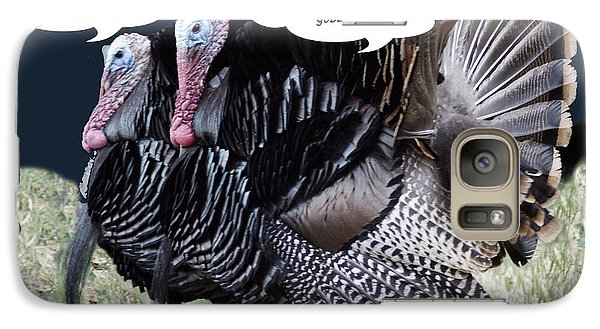 Galaxy Case featuring the photograph Two Turkeys Talking by Gary Brandes