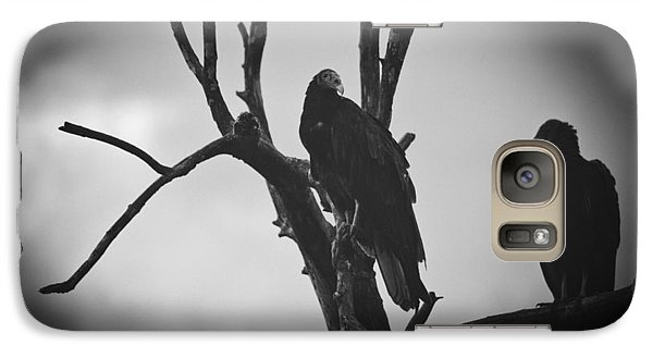 Galaxy Case featuring the photograph Two Vultures by Bradley R Youngberg