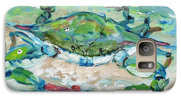 Galaxy Case featuring the painting Tybee Blue Crab Mini Series by Doris Blessington